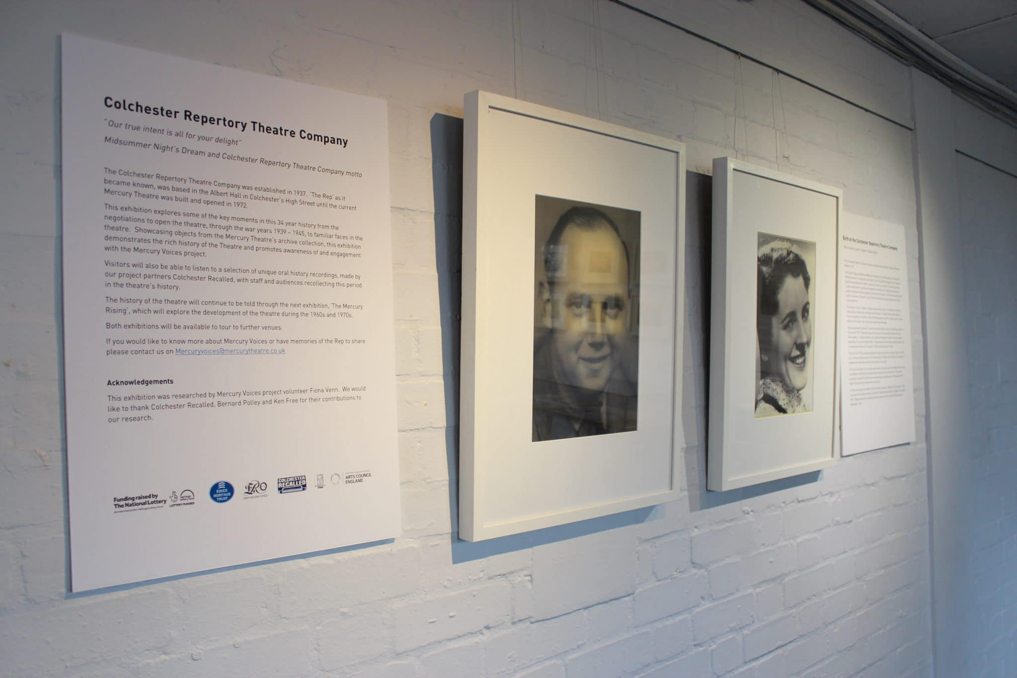 A display about Robert Digby and Beatrice Radley, founders of the Mercury