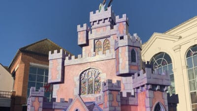 A Christmas attraction of Cinderella's Castle