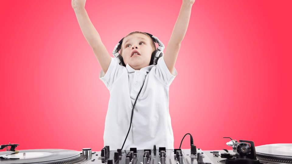 SEND child at DJ deck