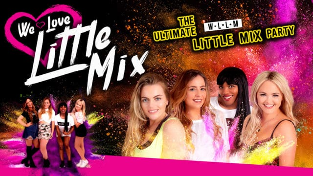 Little Mix tribute with title text and paint splashes